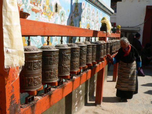 sciarpa ruota di preghiera Gantha e Dorje 5°parte